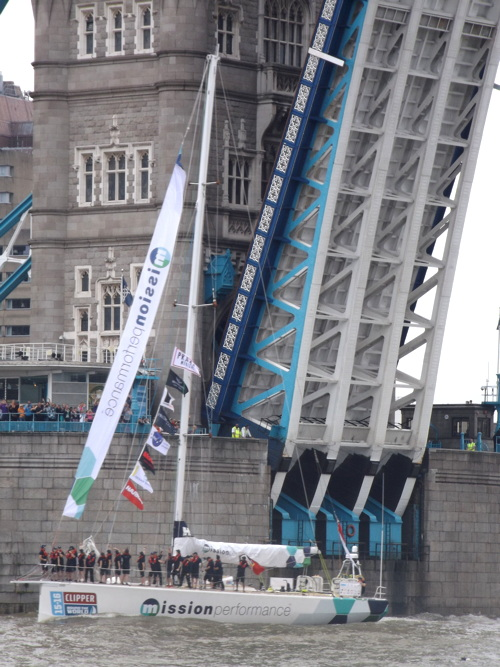 Clipper Round the World Yacht Race starts at Tower Bridge