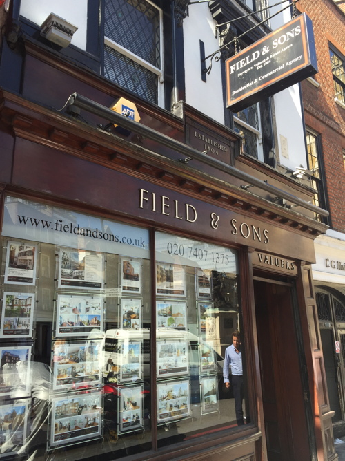 Listed status for Borough High Street estate agent's office