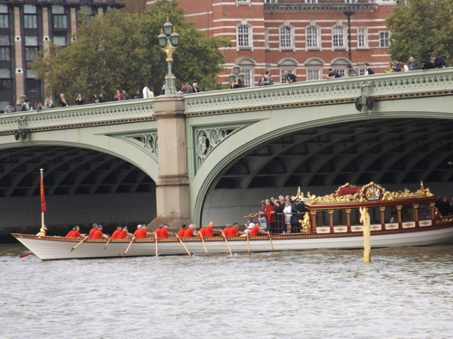 Thames flotilla celebrates Queen's record-breaking reign