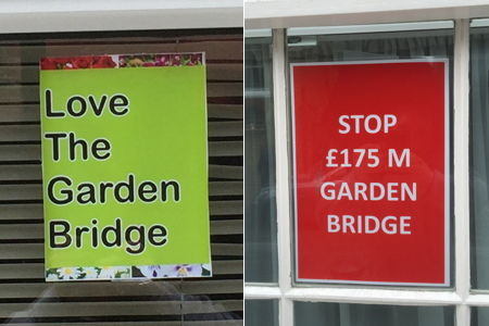Waterloo councillor commissions Garden Bridge opinion poll