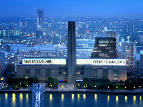 Tate Modern extension will open on Friday 17 June 2016