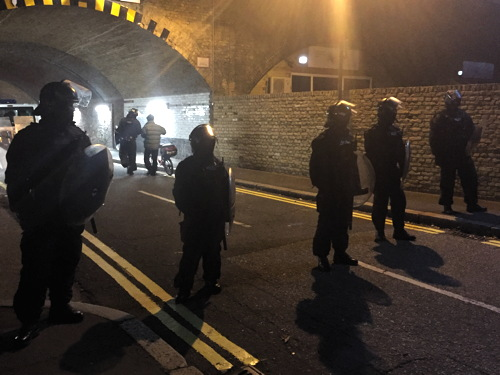 Riot in Lambeth as police block entry to Halloween rave