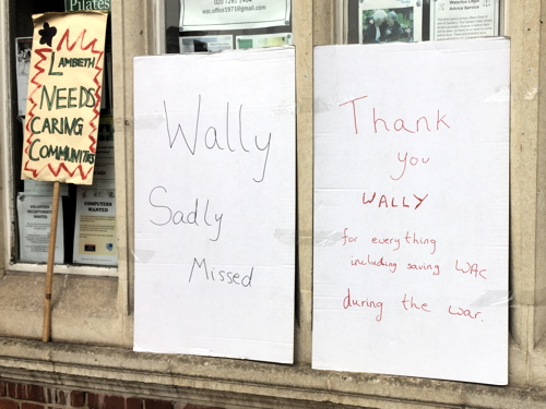 Wally Lawrence: tributes to man who saved Waterloo Library in Blitz