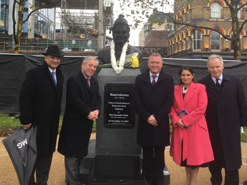 Indian PM Modi unveils Basaveshwara bust on Albert Embankment