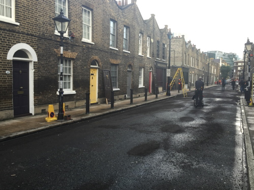 Filming for 'A United Kingdom' takes over Waterloo streets