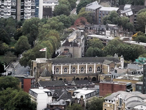 St George's Cathedral seen from the Shard
