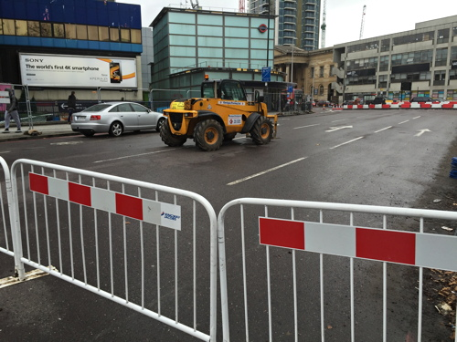 Elephant & Castle roundabout becomes two-way junction