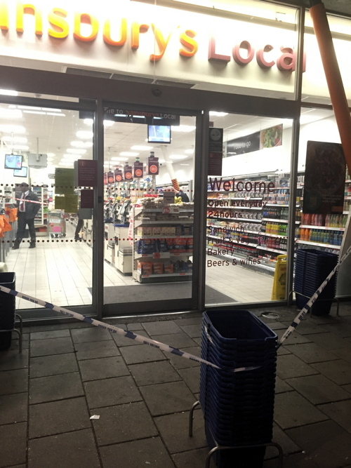 Two arrests for GBH after assault at Sainsbury's in Waterloo Road