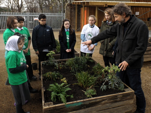 Local kids get planting masterclass from Garden Bridge's Dan Pearson