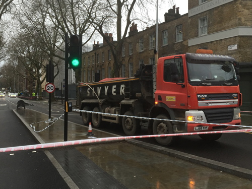 Man in wheelchair hit by lorry in Borough Road