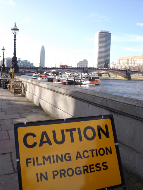Bus blown up on Lambeth Bridge for 'The Foreigner' movie