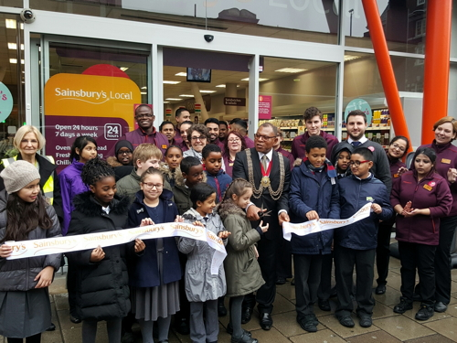 Mayor of Lambeth opens revamped Sainsbury's in Waterloo Road