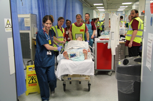 St Thomas' staff join exercise to simulate disaster at Waterloo