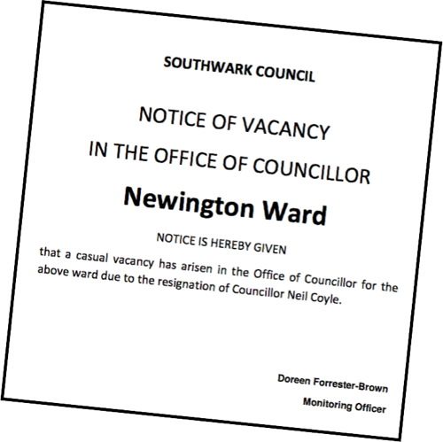 Neil Coyle MP resigns his Southwark Council seat