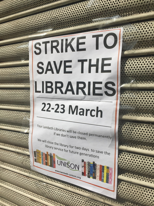 Strike shuts Waterloo Library as row over Lambeth plans continues