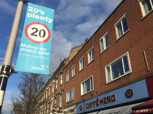 Lambeth joins Southwark in setting 20 mph speed limit