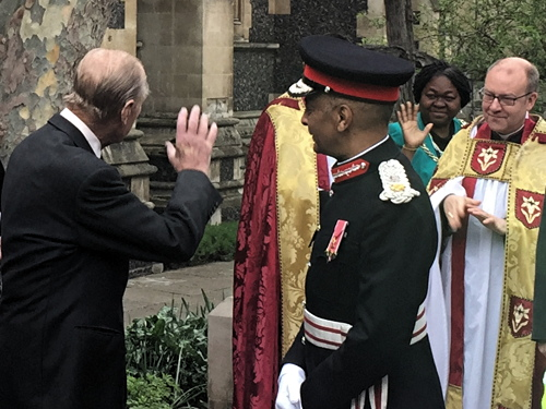 Prince Philip at Southwark Cathedral for Shakespeare 400 service
