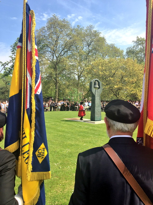 Victory Day wreath-laying at Soviet War Memorial