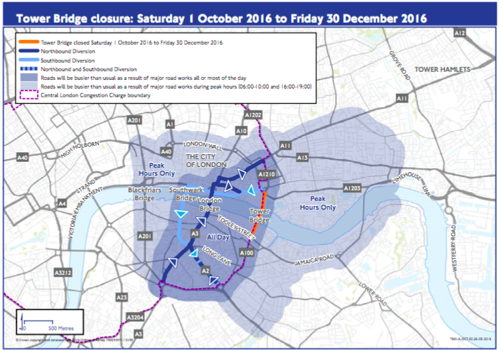 Tower Bridge: details of 3-month road closure confirmed