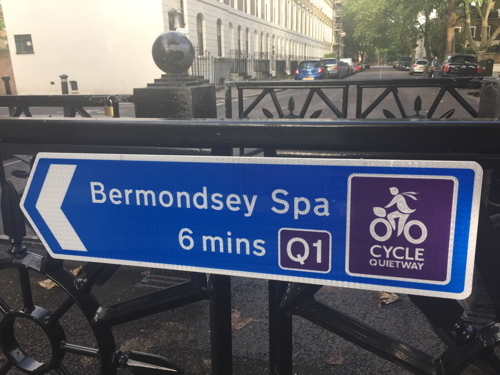 Quietway 1 Waterloo to Greenwich cycle route opened