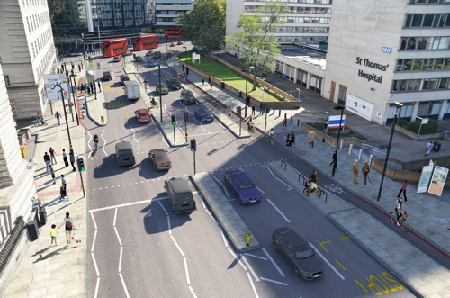 St Thomas' Hospital steps up campaign over Westminster Bridge cycle lane