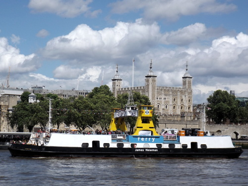 Woolwich Ferry comes to Tower Bridge
