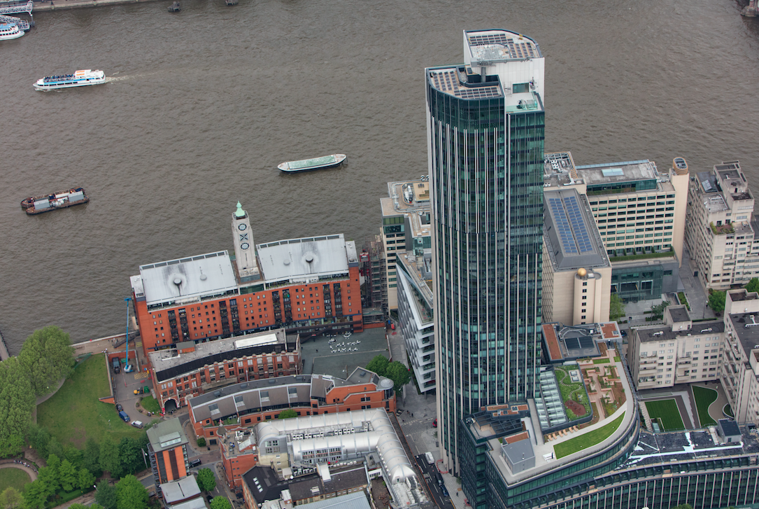 Solar panels installed on top of South Bank Tower