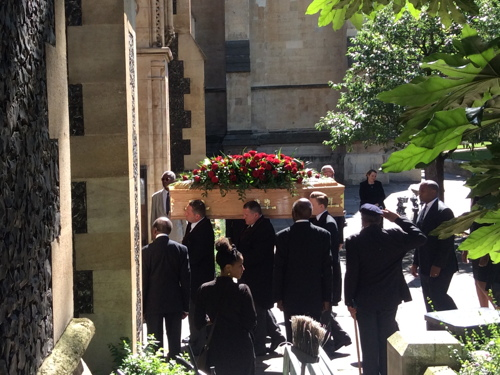 Funeral of Sam King MBE held at Southwark Cathedral