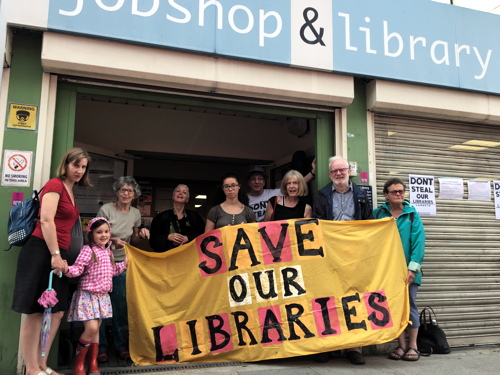 Protests in Lower Marsh as Lambeth shuts Waterloo Library