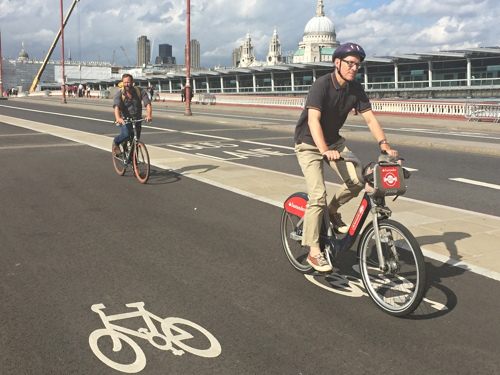 TfL hails 'great success' of Blackfriars Bridge cycle superhighway