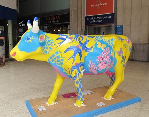 CowParade Surrey comes to Waterloo and the South Bank