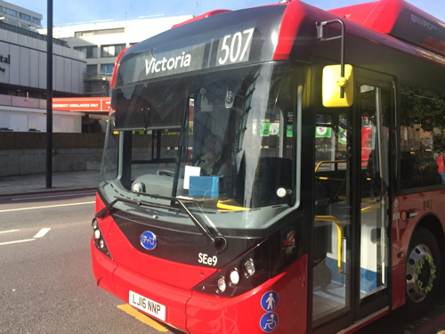 Electric buses on routes 507 & 521 boast at-seat USB chargers