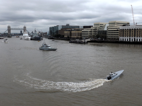 Bladerunner: Royal Navy tests 'drone boat' on the Thames