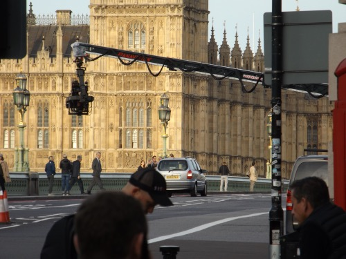 Transformers 5 filming on Westminster Bridge