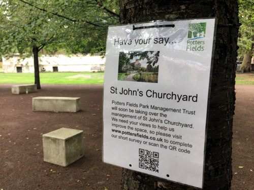 St John's Churchyard and Potters Fields Park: have your say