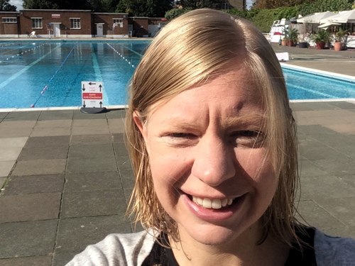 Councillor's sponsored swim to raise funds for the Dragon Cafe