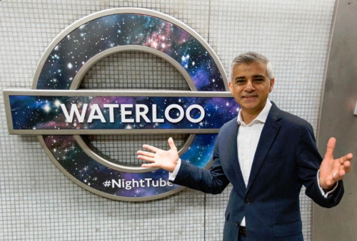 Sadiq Khan at Waterloo to announce further Night Tube services