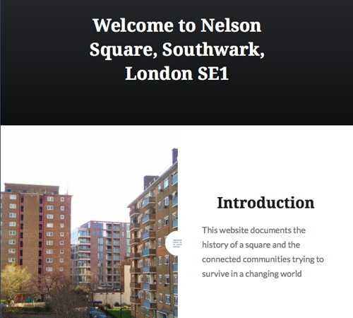 Nelson Square residents launch local history website
