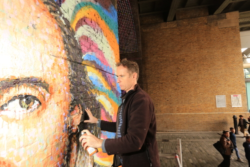Shakespeare mural appears in Clink Street tunnel