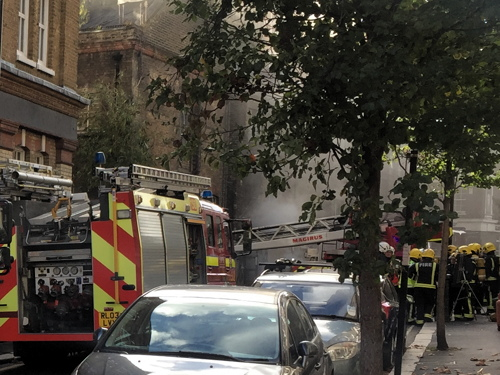Major fire at newspaper & TV channel offices in Sanctuary Street