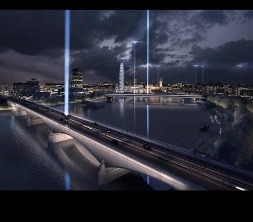 £20m plan to light up Thames bridges: shortlisted ideas on show