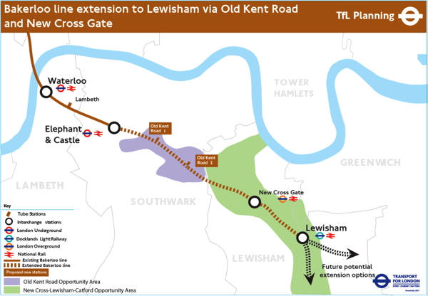£3.1bn Bakerloo line extension along Old Kent Road 'by 2028/9'