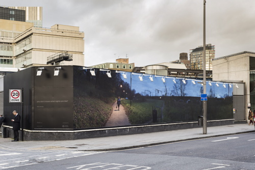 New artwork installed outside Southwark Tube Station