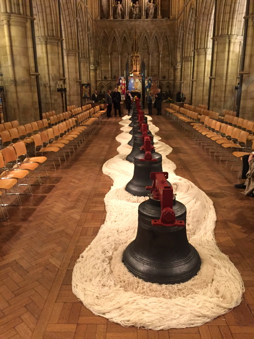Southwark Cathedral's bells returned to tower after restoration