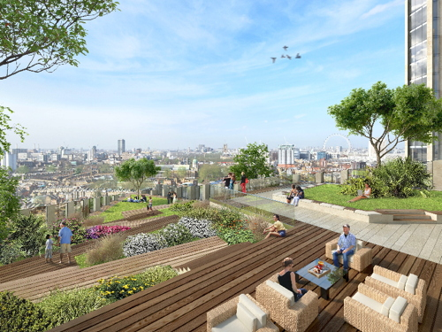 Sadiq: roof garden justifies lack of affordable homes at E&C