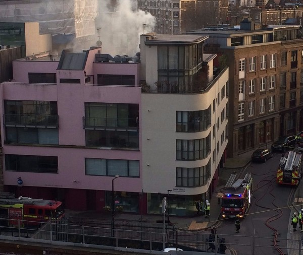 Firefighters tackle blaze at Union Street flats