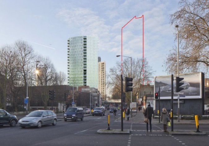 Newington Causeway: 24-storey tower of hotel and flats approved