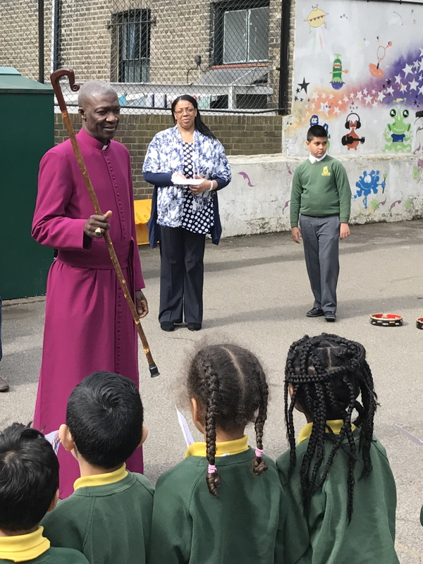 Mayor and Bishop visit St Jude's Primary School