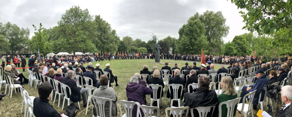 72 years on: wreaths laid at Soviet War Memorial on Victory Day
