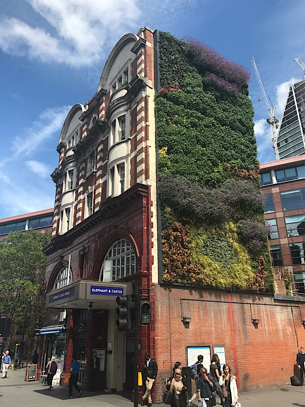 Green wall for Lambeth North station as part of air quality plan